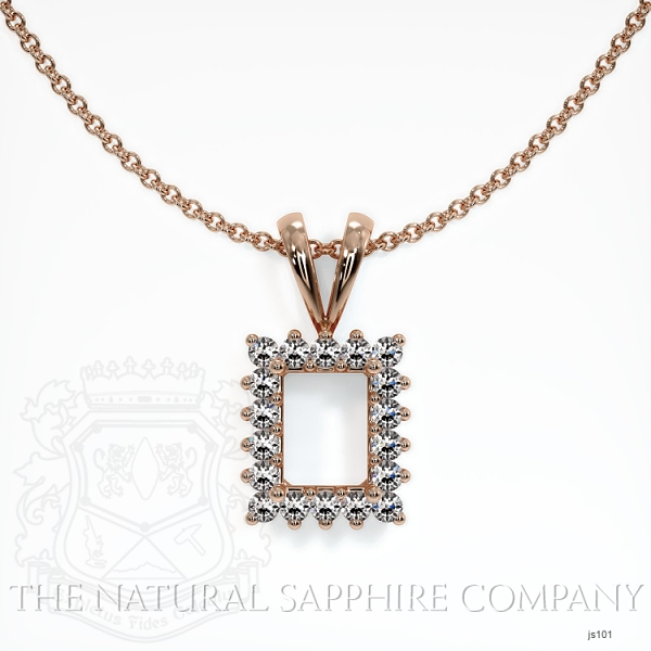 4 Prong With 18 Diamonds Pendant Setting JS101 Image