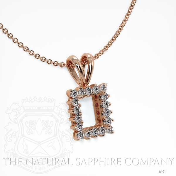4 Prong With 18 Diamonds Pendant Setting JS101 Image 2