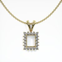 18K Yellow Gold Pendant Setting - JS101Y18