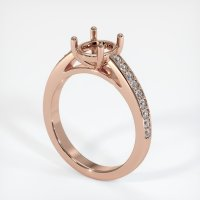 14K Rose Gold Pave Diamond Ring Setting - JS1010R14