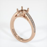 18K Rose Gold Pave Diamond Ring Setting - JS1010R18