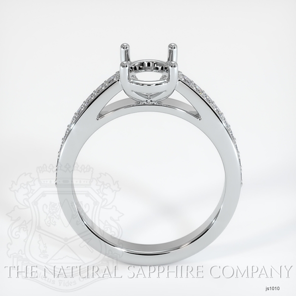 4 Prong Cathedral Pave Ring Setting JS1010 Image 4