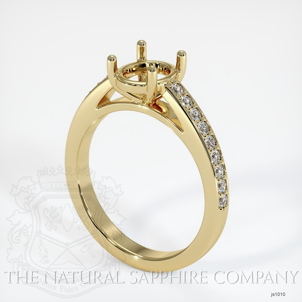4 Prong Cathedral Pave Ring Setting JS1010 Image