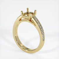 14K Yellow Gold Pave Diamond Ring Setting - JS1010Y14