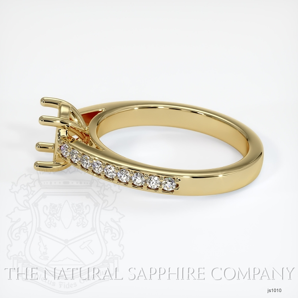 4 Prong Cathedral Pave Ring Setting JS1010 Image 3