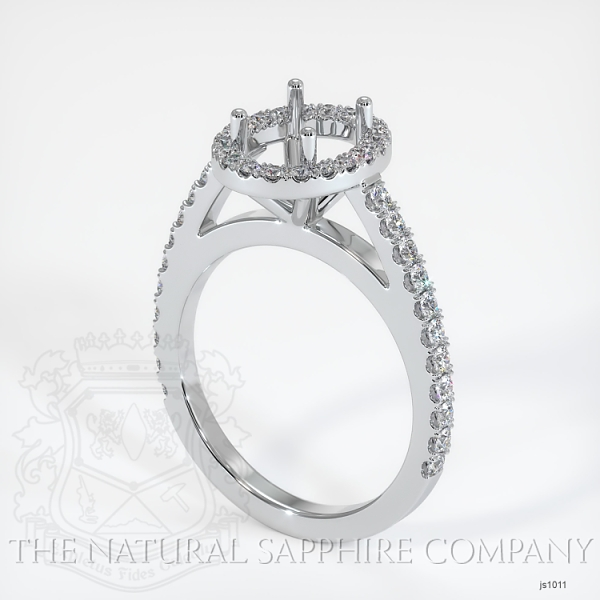 French Cut Pave Diamond Halo Setting JS1011 Image