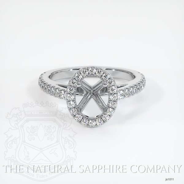 French Cut Pave Diamond Halo Setting JS1011 Image 2