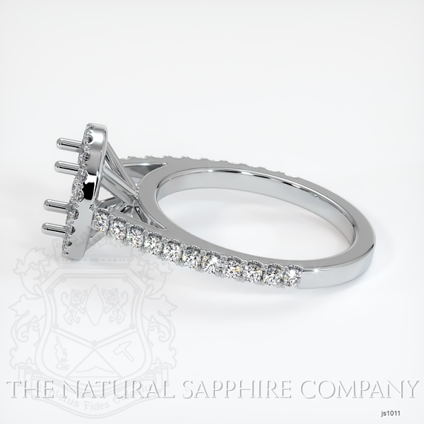 French Cut Pave Diamond Halo Setting JS1011 Image 3