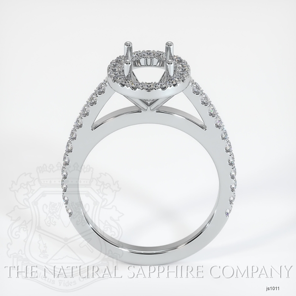 French Cut Pave Diamond Halo Setting JS1011 Image 4
