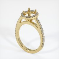 14K Yellow Gold Pave Diamond Ring Setting - JS1011Y14