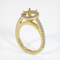 18K Yellow Gold Pave Diamond Ring Setting - JS1011Y18