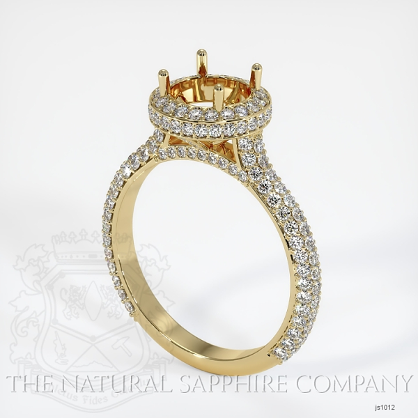 Micropave Diamond Halo Ring Setting JS1012 Image