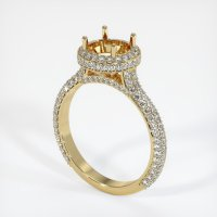 14K Yellow Gold Pave Diamond Ring Setting - JS1012Y14