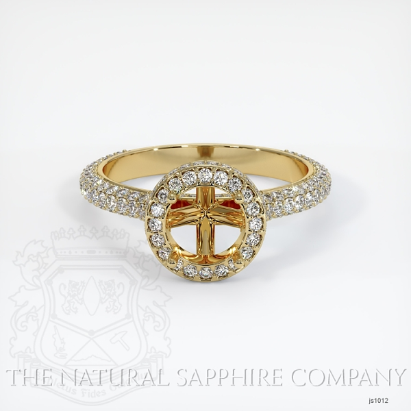 Micropave Diamond Halo Ring Setting JS1012 Image 2