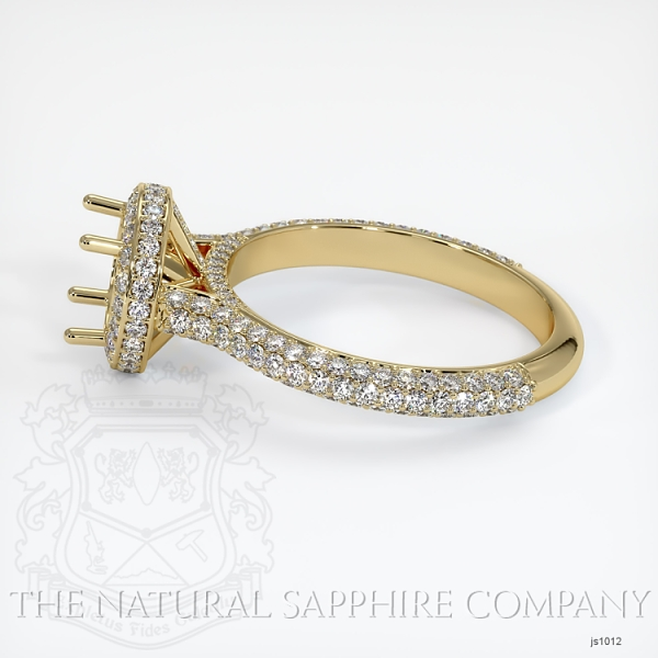 Micropave Diamond Halo Ring Setting JS1012 Image 3