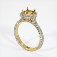 18K Yellow Gold Pave Diamond Ring Setting - JS1012Y18