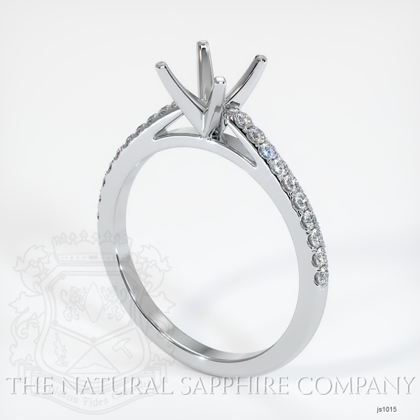 4 Prong Cathedral Pave Ring Setting JS1015 Image