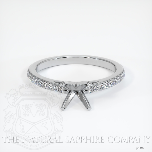 4 Prong Cathedral Pave Ring Setting JS1015 Image 2