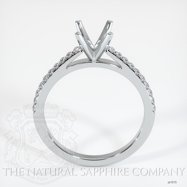 4 Prong Cathedral Pave Ring Setting JS1015 Image 4