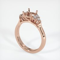 14K Rose Gold Ring Setting - JS1016R14