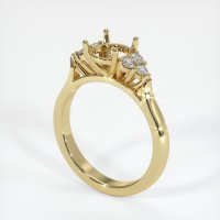 14K Yellow Gold Ring Setting - JS1016Y14