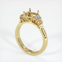 18K Yellow Gold Ring Setting - JS1016Y18