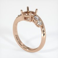 18K Rose Gold Ring Setting - JS1018R18