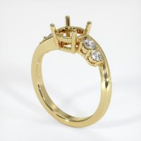 18K Yellow Gold Ring Setting - JS1018Y18