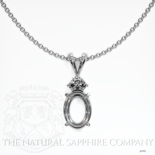 4 Prong With 3 Diamonds Pendant Setting JS102 Image