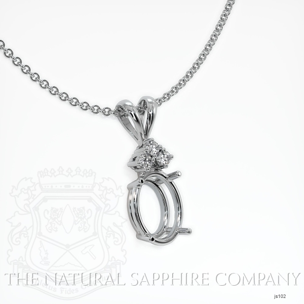 4 Prong With 3 Diamonds Pendant Setting JS102 Image 2