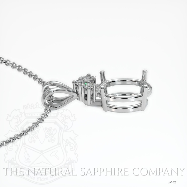 4 Prong With 3 Diamonds Pendant Setting JS102 Image 3