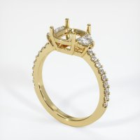 18K Yellow Gold Pave Diamond Ring Setting - JS1020Y18