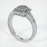 18K White Gold Pave Diamond Ring Setting - JS1021W18