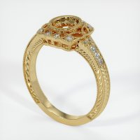 14K Yellow Gold Pave Diamond Ring Setting - JS1021Y14