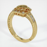 18K Yellow Gold Pave Diamond Ring Setting - JS1021Y18