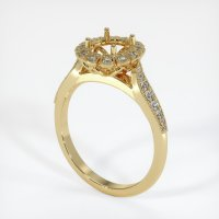 14K Yellow Gold Pave Diamond Ring Setting - JS1022Y14