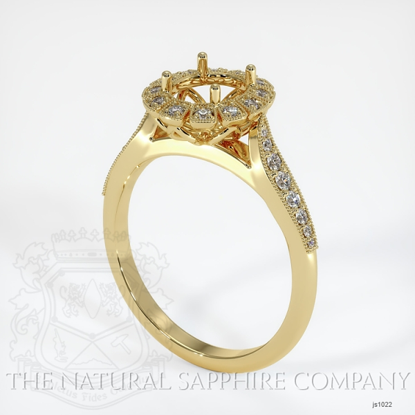 Antique Style Diamond Halo Ring JS1022 Image