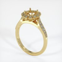18K Yellow Gold Pave Diamond Ring Setting - JS1022Y18
