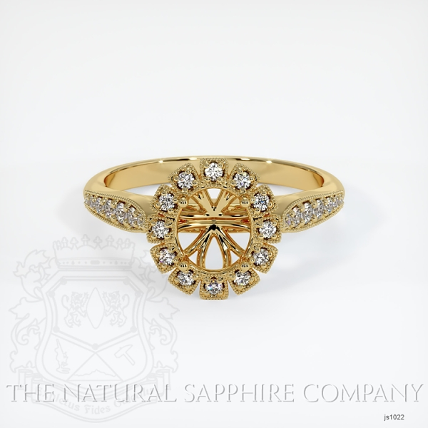 Antique Style Diamond Halo Ring JS1022 Image 2