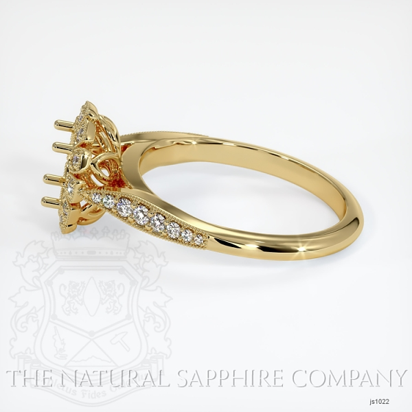 Antique Style Diamond Halo Ring JS1022 Image 3