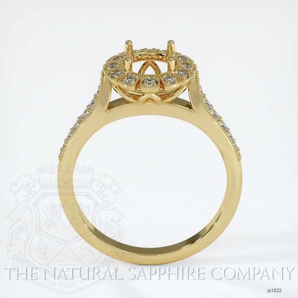 Antique Style Diamond Halo Ring JS1022 Image 4