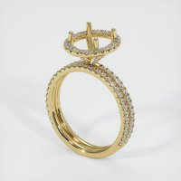 14K Yellow Gold Pave Diamond Ring Setting - JS1023Y14