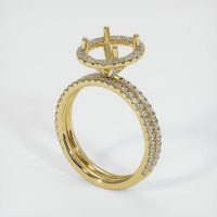 18K Yellow Gold Pave Diamond Ring Setting - JS1023Y18