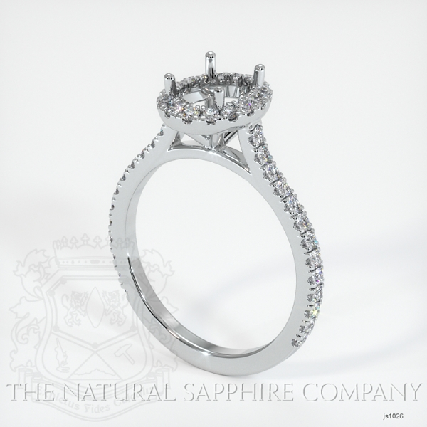 Pave Diamond Halo Ring Setting JS1026 Image