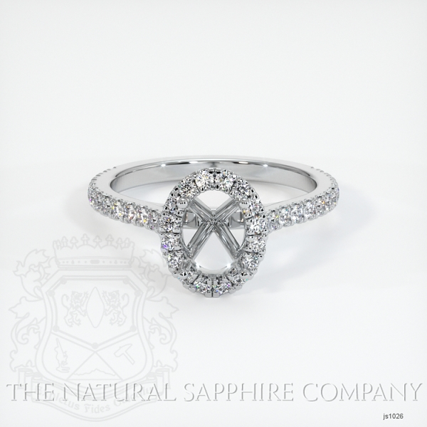 Pave Diamond Halo Ring Setting JS1026 Image 2