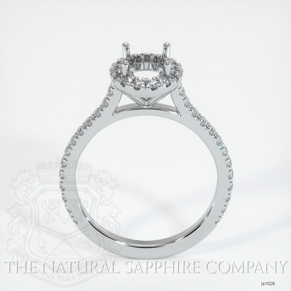 Pave Diamond Halo Ring Setting JS1026 Image 4