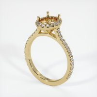 14K Yellow Gold Pave Diamond Ring Setting - JS1026Y14
