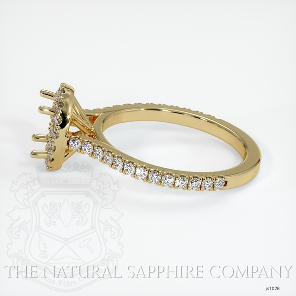 Pave Diamond Halo Ring Setting JS1026 Image 3