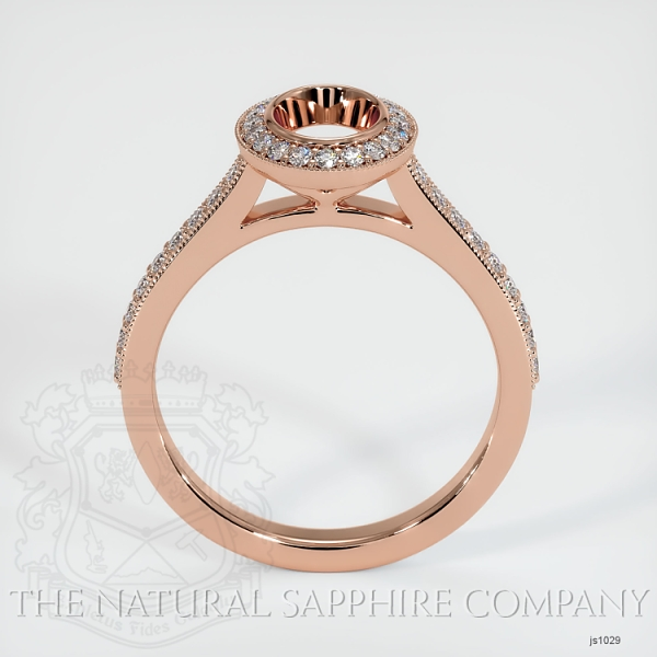 Bezel Set Pave Diamond Halo Ring Setting JS1029 Image 4