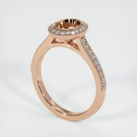 18K Rose Gold Pave Diamond Ring Setting - JS1029R18